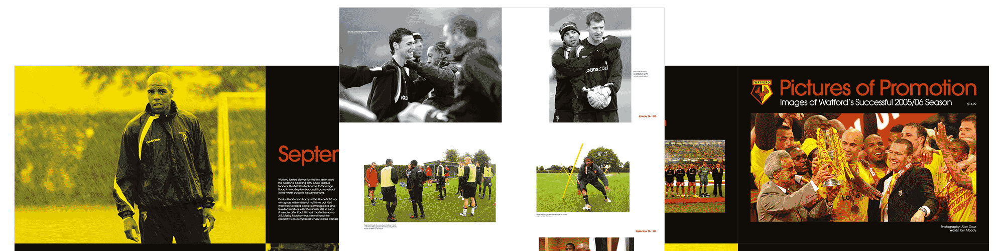 Screenshot of the Watford Football Club case study by Michael Saunders